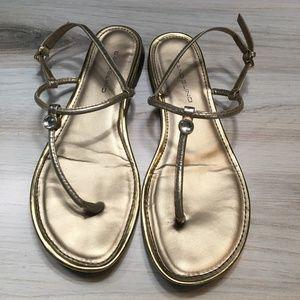 Bandolino Gold Sandals Crystal